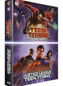 La ligue des justiciers vs les teen titans + teen titans: the judas contract - pack
