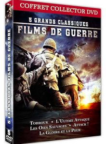 5 classiques films de guerre : l'ultime attaque (zulu dawn) + les oies sauvages + la gloire et la peur + attack! (attaque) + tobrouk - commando vers l'enfer - pack