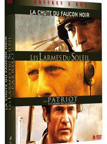 Coffret guerre - les larmes du soleil + the patriot + la chute du faucon noir - pack