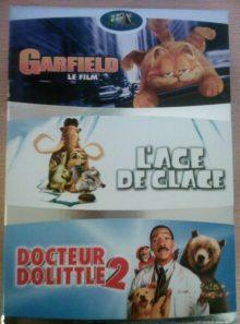 Docteur dolittle 2 + l'age de glace + garfield - le film - pack
