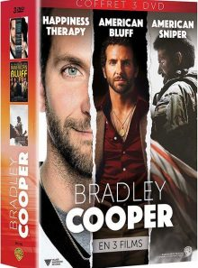 Bradley cooper en 3 films : happiness therapy + american bluff + american sniper - édition limitée