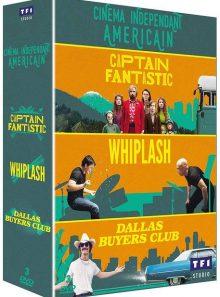 Le cinéma indépendant américain - coffret : captain fantastic + dallas buyers club + whiplash - pack