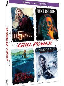 Girl power - coffret : la 5ème vague + don't breathe + instinct de survie + underworld : blood wars - dvd + copie digitale