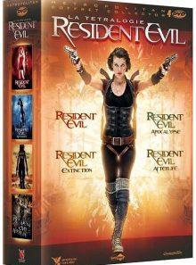 Resident evil : la tetralogie : resident evil + resident evil : apocalypse + resident evil : extinction + resident evil : afterlife - pack