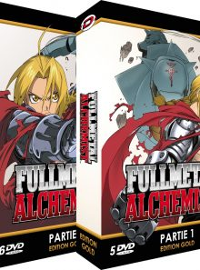 Fullmetal alchemist - intégrale - edition gold - pack 2 coffrets (10 dvd + livrets)
