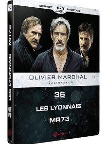 Olivier marchal, réalisateur : 36 quai des orfèvres + les lyonnais + mr 73 - édition prestige - blu-ray
