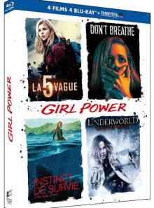 Girl power - coffret : la 5ème vague + don't breathe + instinct de survie + underworld : blood wars - blu-ray + copie digitale