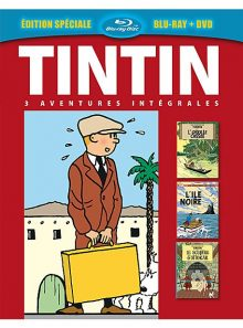 Tintin - 3 aventures - vol. 2 : l'ïle noire + l'oreille cassée + le sceptre d'ottokar - combo blu-ray + dvd
