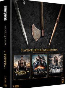 Coffret 3 aventures légendaires : valhalla rising, le guerrier des ténèbres + northmen, les derniers vikings + the dead lands, la terre des guerriers - pack