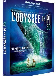 L'odyssée de pi - combo blu-ray 3d + blu-ray + dvd