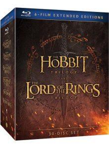 Le hobbit et le seigneur des anneaux, les trilogies - version longue - blu-ray