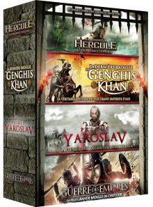 Grands héros : la dernière bataille de gengis khan + hercule : la vengeance d'un dieu + la guerre des empires + prince yaroslav - pack