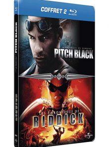 Coffret riddick : pitch black + les chroniques de riddick - pack collector boîtier steelbook - blu-ray
