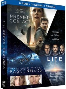 Coffret : premier contact + passengers + life - origine inconnue - blu-ray + copie digitale