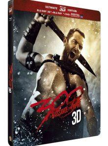 300 : la naissance d'un empire - steelbook ultimate édition - blu-ray 3d + blu-ray + dvd + copie digitale