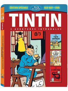 Tintin - 3 aventures - vol. 1 : les cigares de pharaon + le lotus bleu + tintin en amérique - combo blu-ray + dvd