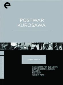 Eclipse series 7 - post-war kurosawa box - eclipse from criterion (no regrets for our youth, one wonderful sunday, scandal, the idiot, i live in fear) (1980) (criterion collection)