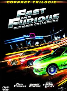 Fast and furious - coffret trilogie : fast and furious + 2 fast 2 furious + fast & furious : tokyo drift - ultimate edition