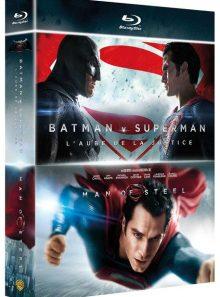 Collection 2 films : batman v superman : l'aube de la justice + man of steel - blu-ray