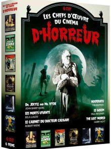 Les chefs-d'oeuvre du cinéma d'horreur : dr. jekyll and mr. hyde + les morts-vivants + le cabinet du docteur caligari + nosferatu + le golem + the lost world - pack