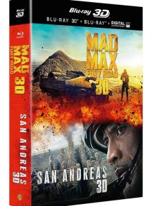 San andreas + mad max : fury road - combo blu-ray 3d + blu-ray + copie digitale