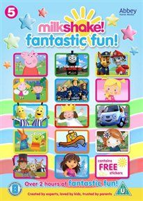 Milkshake fantastic fun [dvd] with free stickers