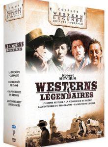 Robert mitchum - 4 westerns légendaires : l'homme au fusil + la vengeance du shérif + la route de l'ouest + l'aventurier du rio grande - pack