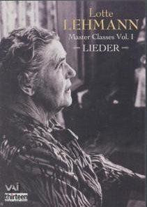 Lotte lehmann masterclasses - lieder