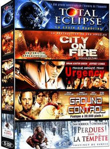 Catastrophe - coffret 5 films n° 2 : total eclipse + city on fire + urgency + ground control + perdues dans la tempête - pack