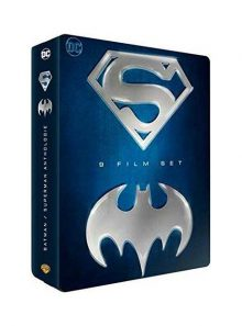 Batman / superman - coffret 9 films - coffret métal - blu-ray