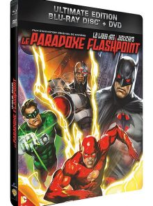 La ligue des justiciers - le paradoxe flashpoint - combo blu-ray + dvd - édition boîtier métal