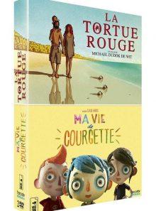 La tortue rouge + ma vie de courgette - pack