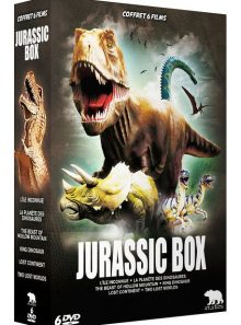 Jurassic box : l'île inconnue + la planète des dinosaures + the beast of hollow mountain + king dinosaur + lost continent + two lost worlds - pack