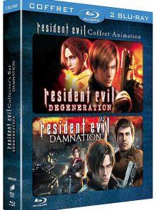 Resident evil : damnation + resident evil : degeneration - pack - blu-ray