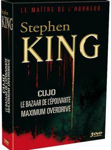 Stephen king : cujo + le bazaar de l'épouvante + maximum overdrive - pack