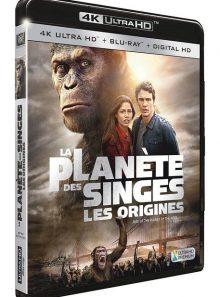 La planète des singes : les origines - 4k ultra hd + blu-ray + digital hd