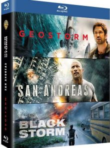 Coffret catastrophes naturelles : geostorm + san andreas + blackstorm - pack - blu-ray