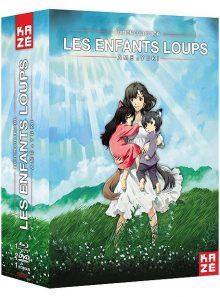 Les enfants loups ame et yuki - édition collector blu-ray + dvd + livre