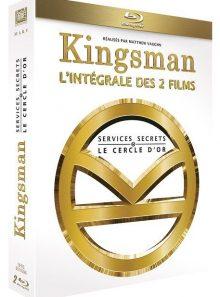 Kingsman : services secrets + kingsman 2 : le cercle d'or - blu-ray