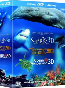 Jean-michel cousteau documentaire 3d (compatible 2d) - trilogy blu-ray import anglais - vf incluse