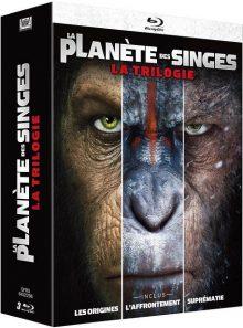 La planète des singes : la trilogie - blu-ray