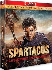 Spartacus : la guerre des damnés - l'intégrale de la saison 3 - blu-ray