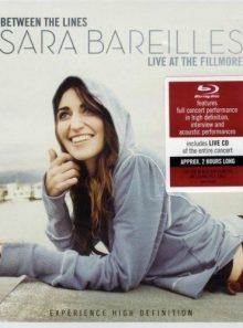 Bareilles, sara - between the lines: sara bareilles live at the fillmore - blu-ray