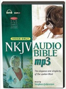 New king james version audio bible, voice only (dvd/cd combo)