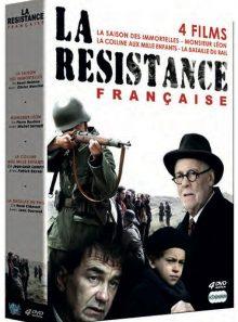 Resistance française : la saison des immortelles + monsieur léon + la colline aux mille enfants + la bataille du rail - pack