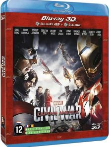 Captain america : civil war - combo blu-ray 3d + blu-ray 2d