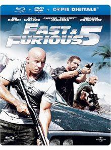Fast & furious 5 - combo blu-ray + dvd - édition boîtier steelbook