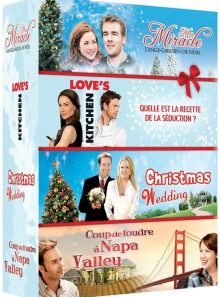 Noël n° 2 : christmas wedding + mrs miracle + love's kitchen + coup de foudre à napa valley - pack