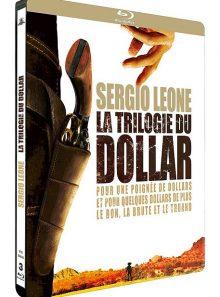 Sergio leone : la trilogie du dollar : pour une poignée de dollars + et pour quelques dollars de plus + le bon, la brute et le truand - édition limitée boîtier steelbook - blu-ray