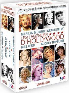 Les légendes d'hollywood - marilyn monroe, grace kelly, mae west, audrey hepburn